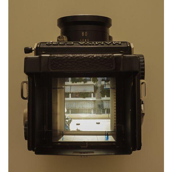 """Mamiya 330 f professional medium format camera + 80mm sekor """"blue dot"""" lens"""