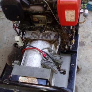 Γεννήτρια  roket  6kva 1φ diesel ανακατασκευασμενη  κινητήρας miyake 10hp με μίζα