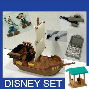 Αγγελιες Φιγουρες μινιατουρες σετ παιδικο παιχνιδι Ντισνεϊ Disney Μικι Μαους Γκουφι Πειρατες της Καραϊβικης + πειρατικο καραβι + κανονι + σεντουκι θησαυρου + σπαθια + παρατηρητηριο