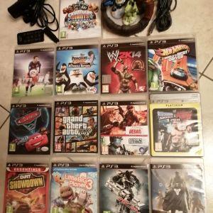 13 παιχνίδια PS3 και αυθεντικά αξεσουάρ (Πωλούνται ξεχωριστά ή όλα μαζί σύμφωνα με την περιγραφή).