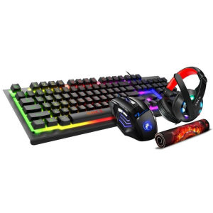 Gaming RGB πληκτρολόγιο με ποντίκι 4 σε 1 Headset + Mouse + Keyboard + Mouse Pad iMICE GK-470