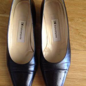 Παπούτσια μαύρα Καλογήρου No6
