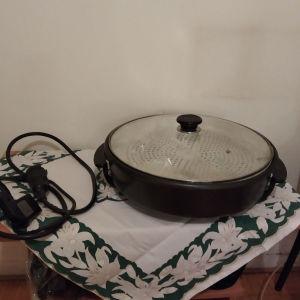Τηγάνι ηλεκτρικό αντικολλητικό με γυάλινο καπάκι
