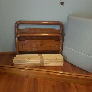 Μονο κρεβατι ξυλινο με στρωμα