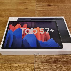 Samsung tab s7+12.4 inch συν Samsung Keyboard Cover σε κατάσταση καινούργιου όλα στο κουτί τους με απόδειξη αγοράς και 1.5 χρόνο υπόλοιπο εγγύησης