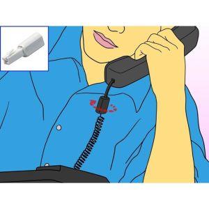Μηχανισμός φις για να μην στρίβει το σπιράλ καλώδιο τηλεφώνου