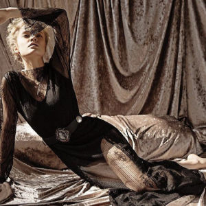 Nidodileda Vintage Φόρεμα Black Swan από μάυρη δαντέλα/ φοριέται μπρος- πίσω / Nidodileda vintage black lace dress
