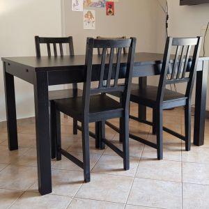 Τραπεζαρία ΙΚΕΑ με 4 καρέκλες, επεκτεινόμενη