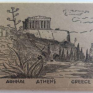 Αθηνα Athens Greece (Μπουκλετ με φωτογραφιες της παλιας Αθηνας)