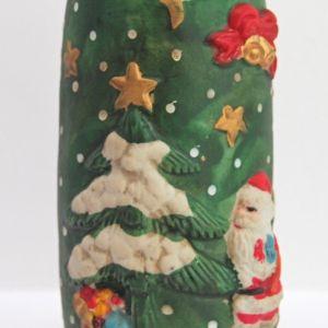 Χριστουγεννιάτικη Κεραμική Μολυβοθήκη