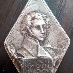 Royal Explorer Alexander Poerio Medal 1915 silver