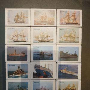 Σπιρτόκουτα με θέμα τη ναυτική εβδομάδα 1980