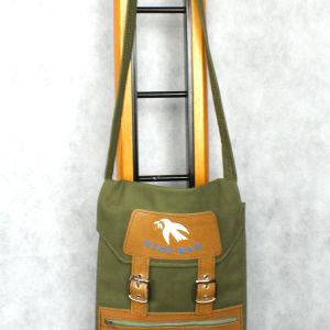 Vintage χακί τσάντα stop war 1970s