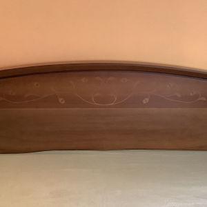 Διπλό κρεβάτι Join ξύλινο με μαρκετερί
