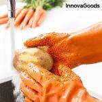 Γάντια για Καθαρισμό και Ξεφλούδισμα Λαχανικών και Φρούτων InnovaGoods