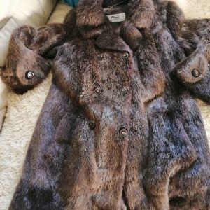 Παλτό από φυσική γούνα εξαιρετικής ποιότητας L νούμερο.
