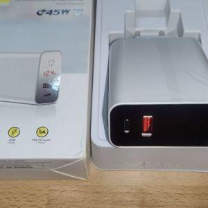 Baseus smartcharger USB+USB-C 45W