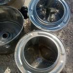 Πωλουνται οι ανοξειδωτοι καδοι διαφορων πλυντηριων, ιδανικο για γλαστρες