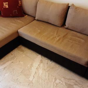 Γωνιακός καναπές/κρεβατι με αποθηκευτικό χώρο