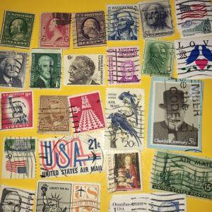 25 Αμερικανικά γραμματόσημα
