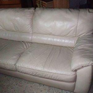 Σετ 2 καναπέδες,βιομηχανικό δέρμα (3-θεσ.200Χ90,2-θες.130Χ90)Δυν.Μεταφορας