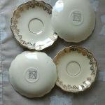 Πατάκια (4) πορσελάνης SUNSHINE J&G MEAKIN ENGLAND, διαμέτρου 14,50 εκατοστών