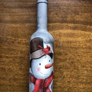 Χριστουγεννιάτικο χειροποίητο μπουκάλι
