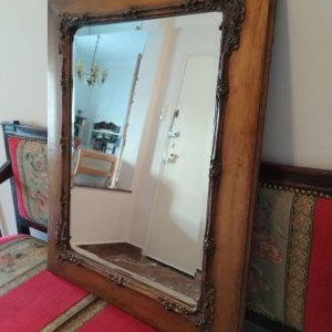 Καθρέφτης ξύλινος σκαλιστός καθρέπτης άριστη κατάσταση