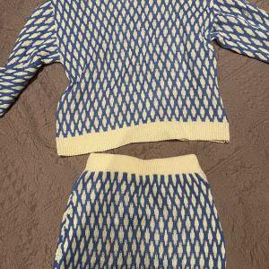 Σετ φούστα μπλούζα πλεκτά