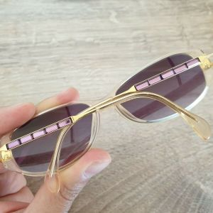 Daniel Swarovski S033 Gold / Purple Rhinestones Sunglasses Made in Austria Γυναικεια Γυαλια Ηλιου
