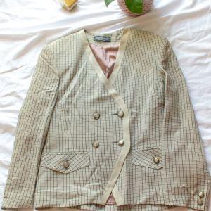Vintage καρό σακάκι