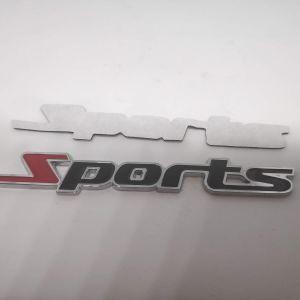 Διακοσμητικο Μεταλλικο Αυτοκολλητο Αυτοκινητου Sports