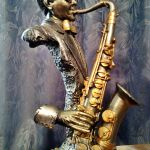 ''Σαξοφωνίστας'' Vintage Σπάνιο Διακοσμητικό Αγαλματίδιο
