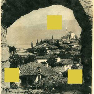 Σπάνια άποψη της πόλης των Ιωαννίνων (1917), απόκομμα απο γερμανικό περιοδικό, Ιωάννινα, Ήπειρος, Φρούριο, Janina, Janena, Ioannina Epirus, Epire