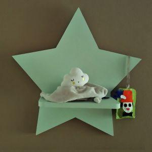 Ξύλινο παιδικό ράφι Αστέρι