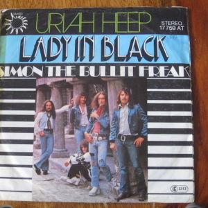 45ΑΡΙΑ(1)SINGLE URIAH HEEP - LADY IN BLACK-BRONZE