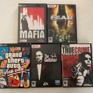 Πακετο 5 PC GAMES (Kαλη κατασταση στα κουτια τους)