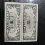 1+2+5 Δολάρια Αμερικής 1976-1988-1995 χαρτονομίσματα.