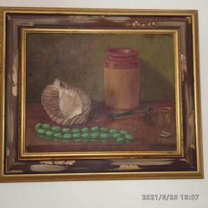 Πίνακας ζωγραφικής. Τιμή 250 ευρώ.
