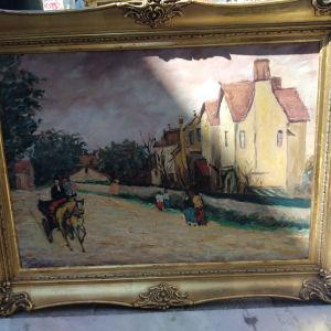 πίνακας ζωγραφικής ελαιογραφία σε χαρντμπολ με διαστάσεις 65 Χ 84 εκατοστά και καθαρές διαστάσεις 50 Χ 68 εκατοστά