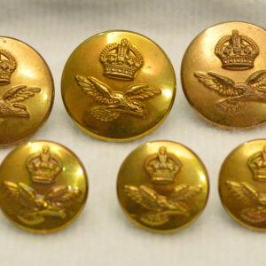 Δώδεκα (12) κουμπιά της Βρετανικής Πολεμικής Αεροπορίας (RAF) του Β΄ΠΠ (30 ευρώ)