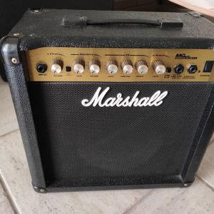 Ενισχυτής κιθάρας Marshall 15watt με effect reverb.