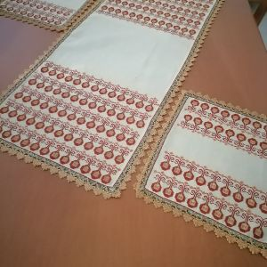 εργόχειρο μετρητο σεμεν με 2 πετσετακια