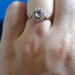 Χρυσο δαχτυλίδι αμεθυστος