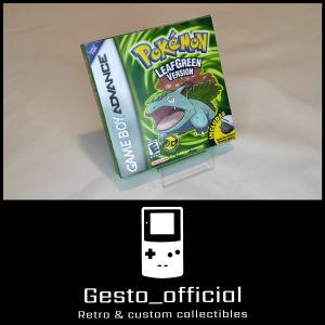 Pokemon Leaf Green Gameboy  Advance custom box Gesto_official