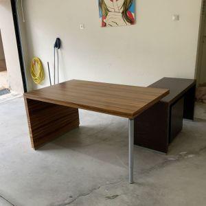 Γραφείο με προέκταση & συρταριέρα (δώρο καρέκλα γραφείου)