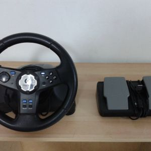 Logitech Rally Vibration Feedback Wheel Pedals MN:E-X2A12 για Sony Playstation 1 & 2.