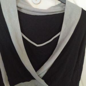 Μπλούζα μαύρη χιαστί με γκλιτερ !!!