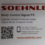 ζυγαριά σώματος, Soehnle Body Control Signal F3