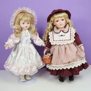 Δύο όμορφες πορσελάνινες κούκλες Γερμανίας (πωλούνται μαζί σε μία τιμή)
